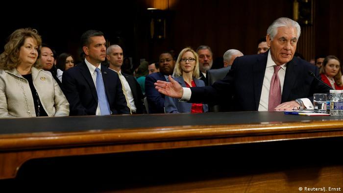 USA Befragung Senat - Rex Tillerson, designierter Außenminister (Reuters/J. Ernst)