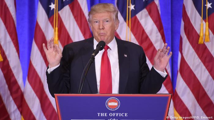 USA Donald Trump Pressekonferenz in New York City (Getty Images/AFP/D. Emmert)