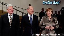 Deutschland Hamburg Eröffnung der Elbphilharmonie - Gauck, Scholz & Merkel