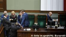 Polen Warschau Sitzung des Parlaments