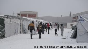 Η σφοδρή κακοκαιρία έπληξε το προηγούμενο διάστημα και τον καταυλισμό προσφύγων στην έκταση της Softex