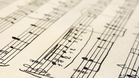 Picture of music sheet with notes