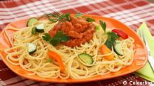 Symbolbild Teller mit Spaghetti Gericht