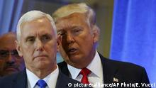 New York Trump Tower Press Conference Vize Mike Pence und Trump