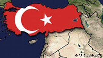 Turkey on a map