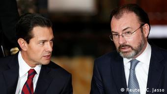 El presidente Enrique Peña Nieto y el nuevo secretario de Relaciones Exteriores, Luis Videgaray, artífice de la controvertida visita de Trump a México en agosto pasado.