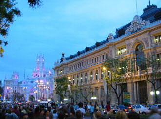 View from Calle de Alcala in Madrid