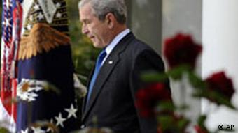 President Bush in the Rose Garden at the White House