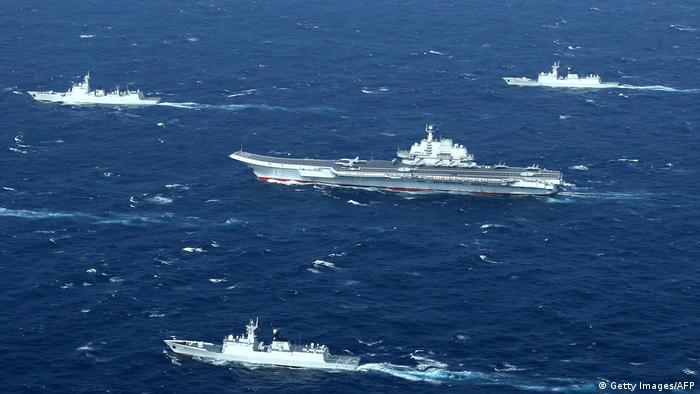 Chinese ships in the South China Sea