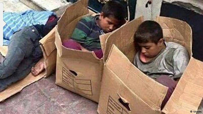 Iran Obdachlose Kinder in Teheran (tnews)