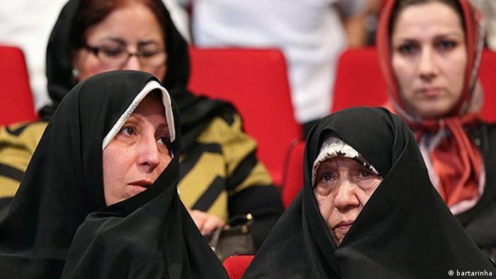 Iran Efat Maraashi und Fatemeh Hashemi Rafsanjani