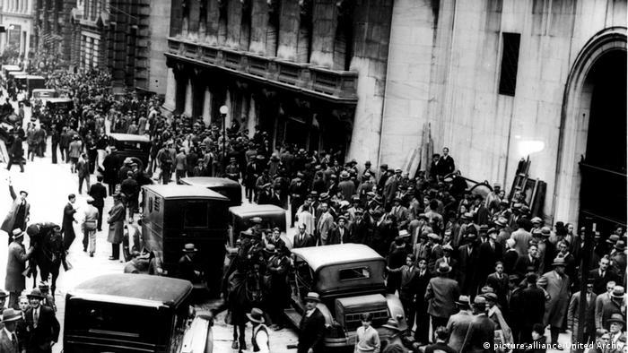 USA Wall Street im Jahr 1929
