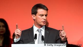 Frankreich ehemaliger Premierminister und Vorwahl-Kandidat der Sozialisten Manuel Valls