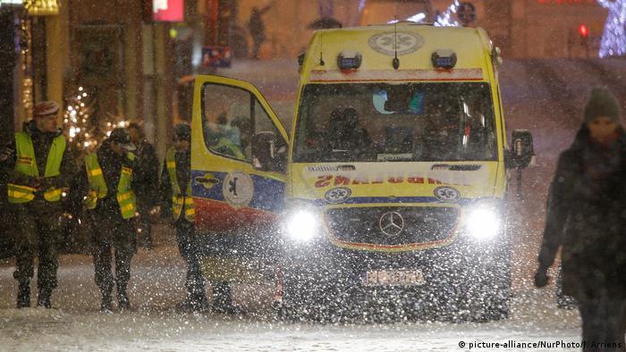 An emergency vehicle in Bydgoszcz, Poland (picture-alliance/NurPhoto/J. Arriens)