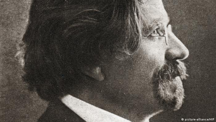 Sholom Aleichem (1859-1916) Russian Jewish writer, c1900. Artist: Unknown (picture-alliance/HIP)