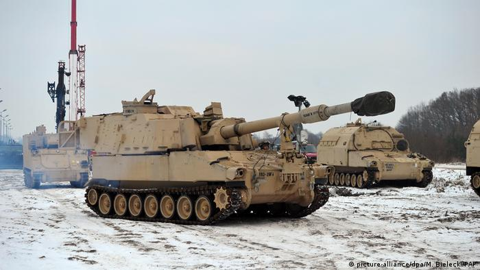 US tanks of the Atlantic Resolve mission in Poland (picture-alliance/dpa/M. Bielecki/PAP)