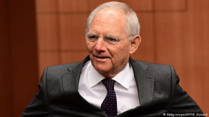Deutschland Finanzminister Wolfgang Schäuble