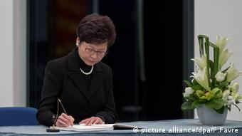 Carrie Lam Cheng Yuet-ngor China (picture alliance/dpa/F.Favre)