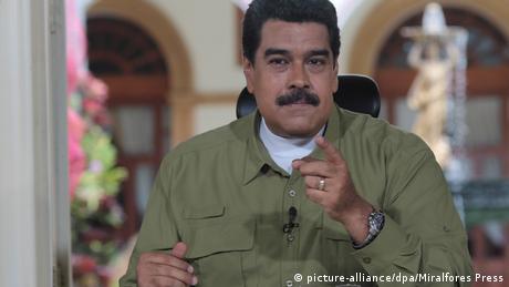 Venezuela Präsident Maduro - neue 500 Bolivar (picture-alliance/dpa/Miralfores Press)