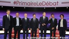 Frankreich TV-Debatte - Präsidentschaftskandidatur