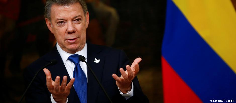 Juan Manuel Santos foi reeleito em 2014