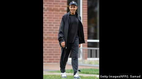 International Day of Sweatpants - Obama (Getty Images/AFP/J. Samad)