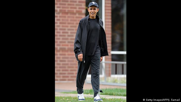 Tag der Jogginghose - Obama (Getty Images/AFP/J. Samad)