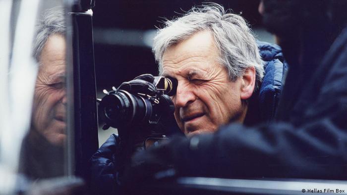 Constantin Costa-Gavras with a camera (Hellas Film Box)