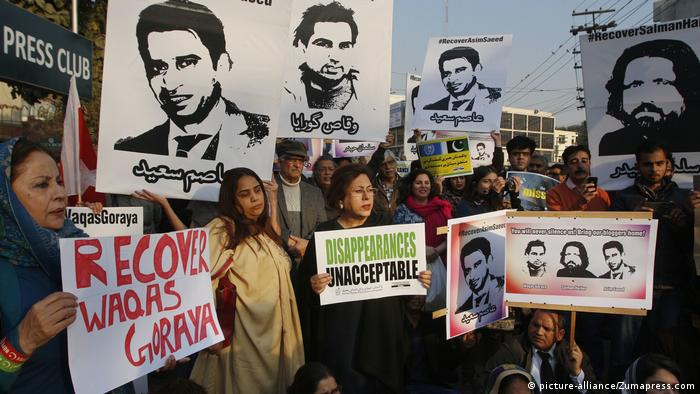Pakistan Demo vermisste Blogger (picture-alliance/Zumapress.com)
