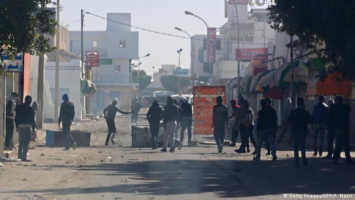 Tunesien Demo in Ben Guerdane
