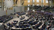 Blick auf die Abgeordneten im Deutschen Bundestag