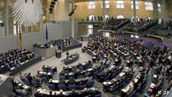German parliamentarians vote on the financial bailout package in 2008