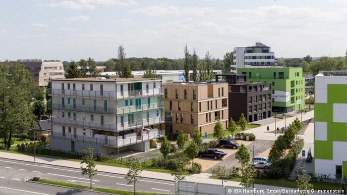 Wilhelmsburg Mitte: Luftbild (IBA Hamburg GmbH/Bernadette Grimmenstein)