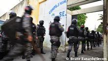 Brasilien Strafvollzug Polizei Compaj Gefängniss