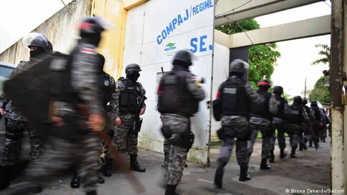 Foto de 2017 mostra aumento da segurança em complexo prisional em Manaus após mortes em rebelião