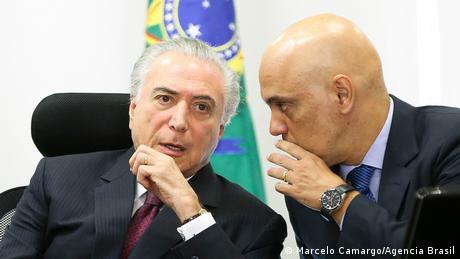 Michel Temer e Alexandre Moraes