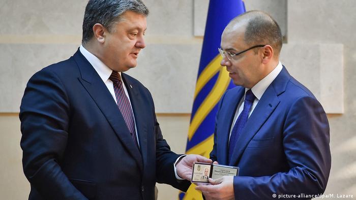 Ukraine Poroschenko präsentiert Gouverneur Odessa Maxim Stepanov