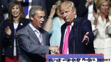 USA Wahlkampf Republikaner Donald Trump & Nigel Farage