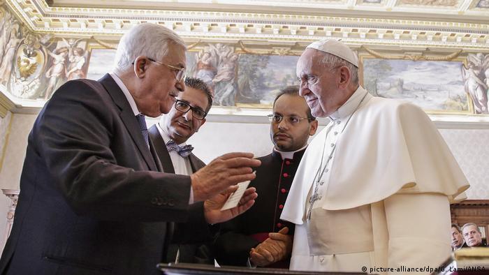 Vatikan Privataudienz Papst Franziskus und Mahmoud Abbas