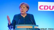 Klausurtagung CDU-Bundesvorstand Angela Merkel (Picture-Alliance/dpa/O. Dietze)