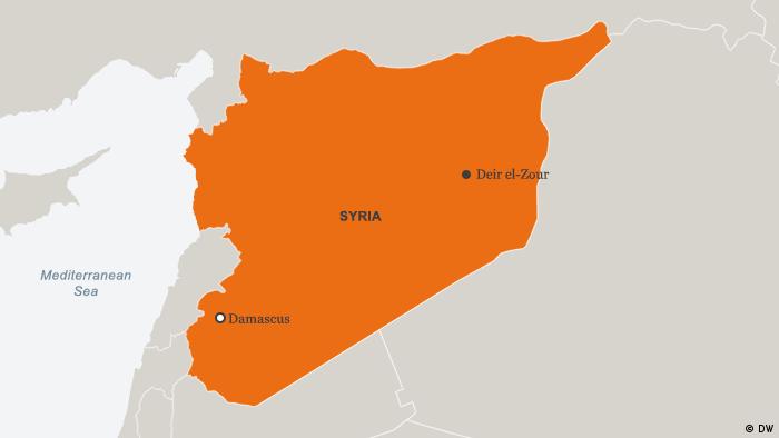 Karte Syrien Deir ez-Zor Englisch (DW)