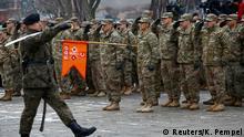 Polen US-Truppen treffen in Zagan ein