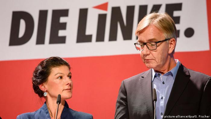 Лідери списку Лівої партії на виборах до Бундестагу Сара Ваґенкнехт та Дітмар Барч