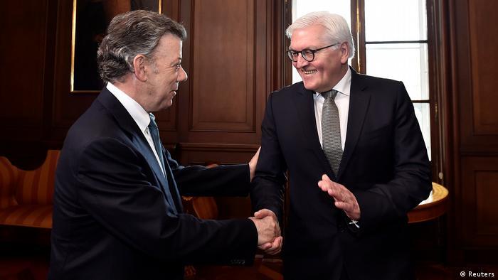 Frank-Walter Steinmeier und Juan Manuel Santos in Bogota