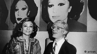 Farah Diba Pahlavi and Andy Warhol