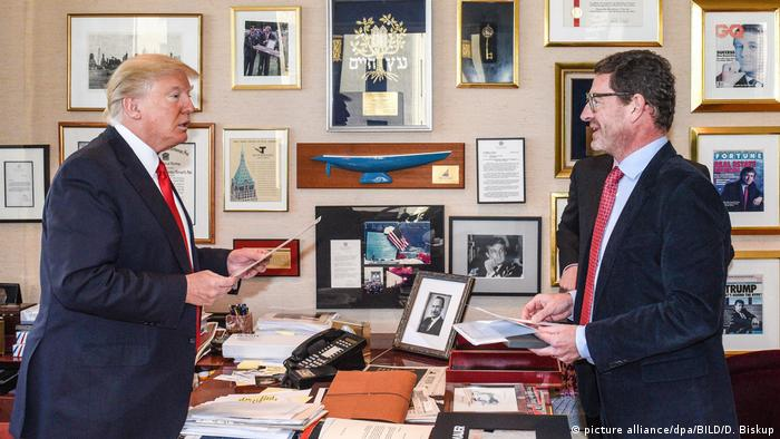 Donald Trump im Interview mit Kai Diekmann (picture alliance/dpa/BILD/D. Biskup)