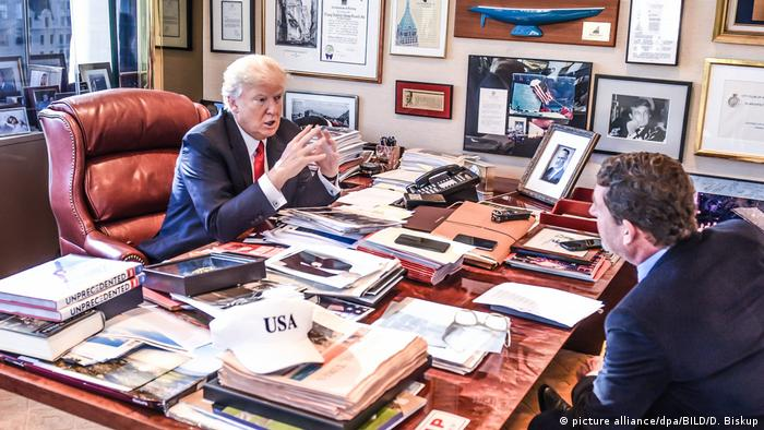 USA Donald Trump im Interview mit Kai Diekmann (picture alliance/dpa/BILD/D. Biskup)