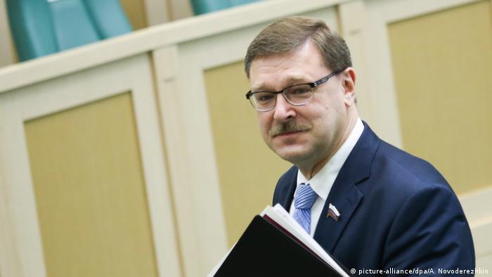 Russland Konstantin Kosachev (picture-alliance/dpa/A. Novoderezhkin)
