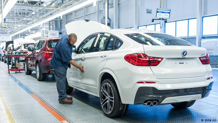 BMW factory in Spartanburg, South Carolina, in the US