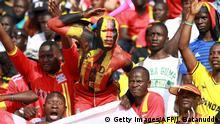 Symbolbild Fans der Uganda Cranes AFCON